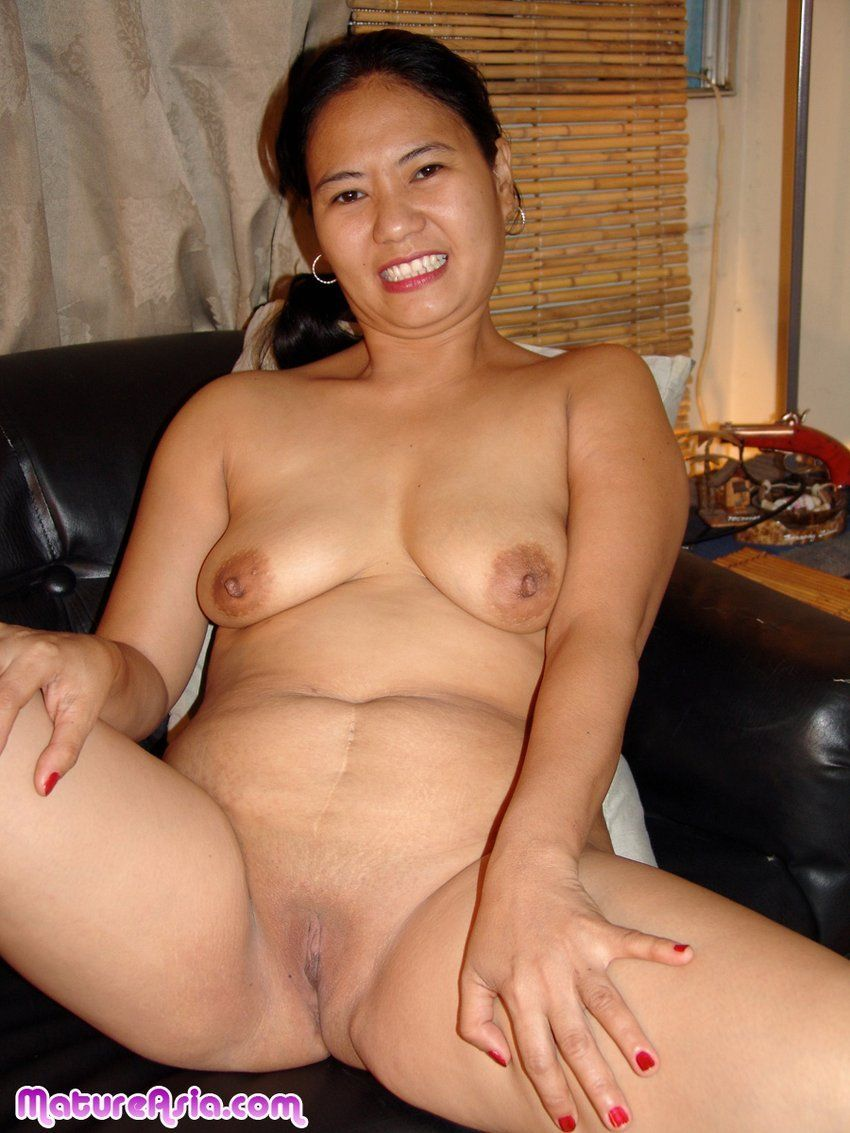 Outdoor asian woman shaved