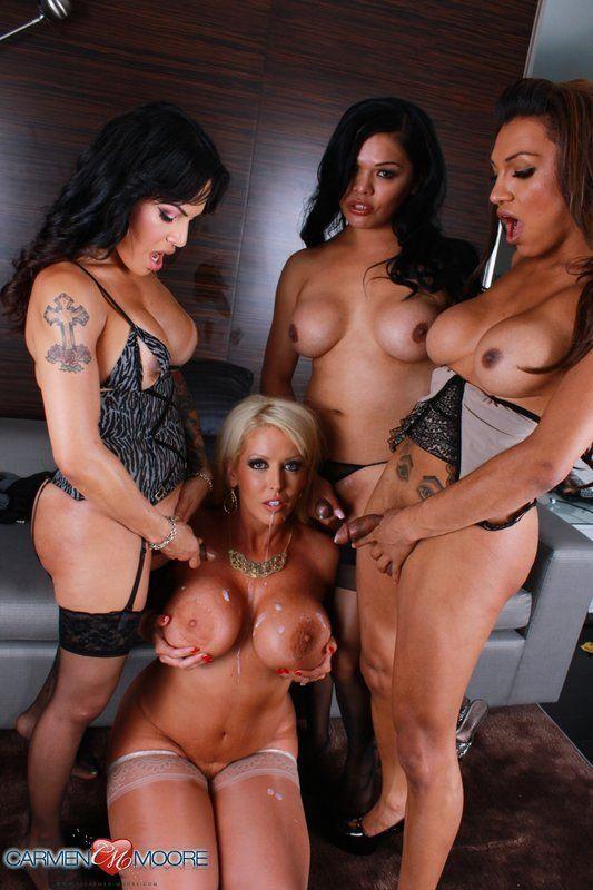 Hot porno tranny shemale orgy gangbang tgp