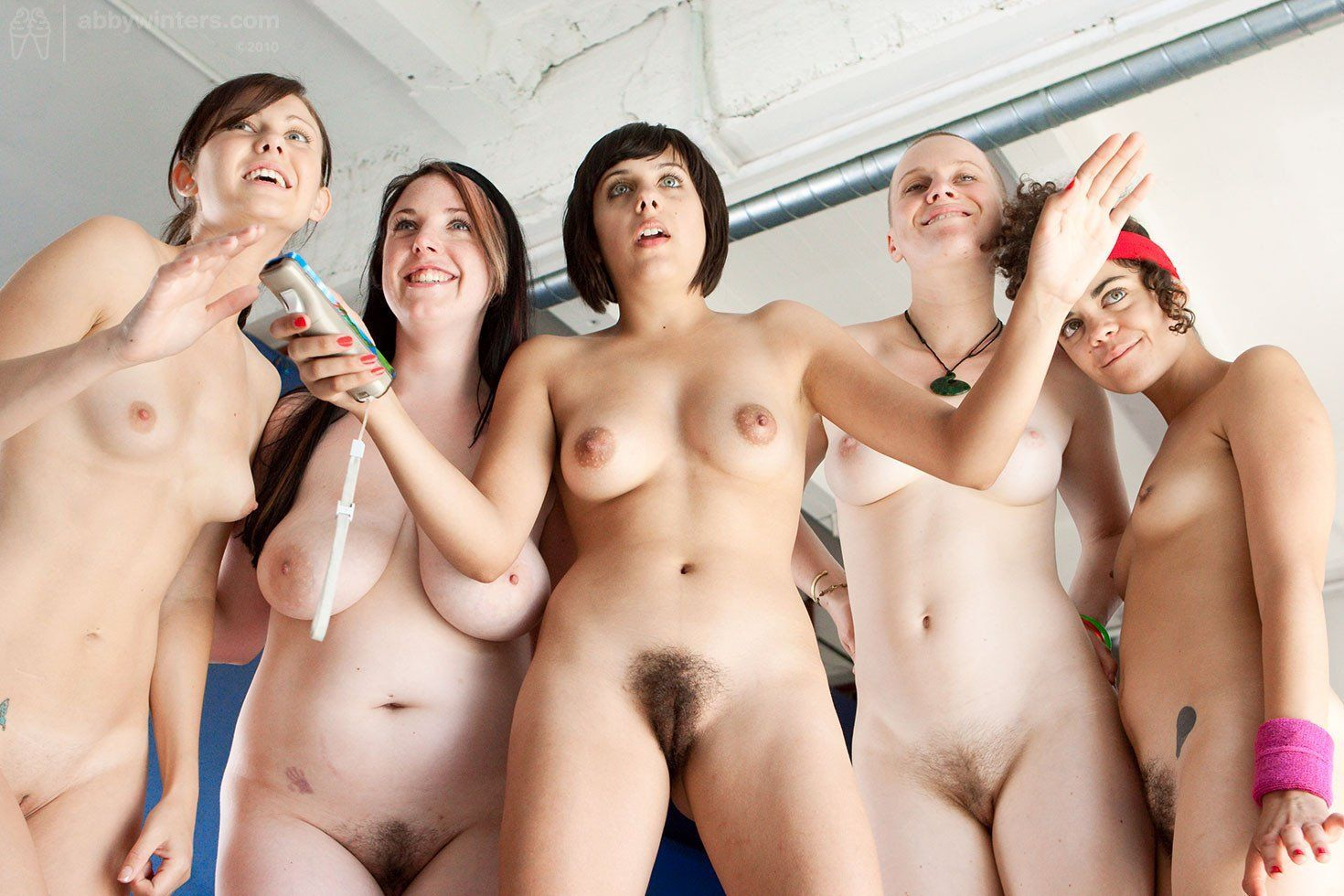 naked group girl