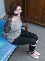 Crisp reccomend bound gagged leggings