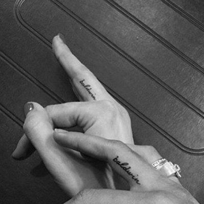best of Heart finger tattoo