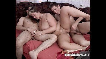 Mature milf tries two young studs