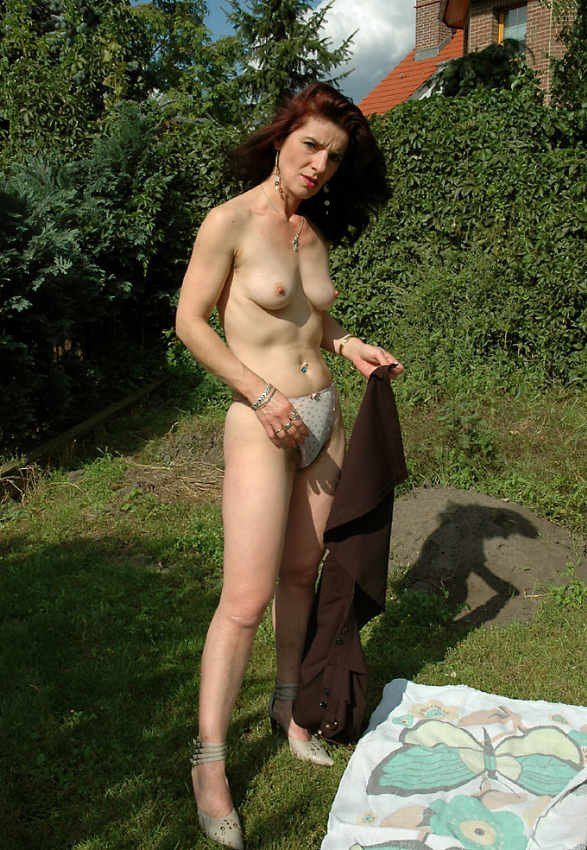 Outdoor hairy milf idea and