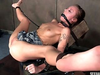 Bdsm whore masturbate dick outdoor