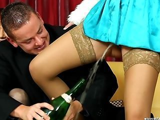commit gail rides dildo on chair excited too with