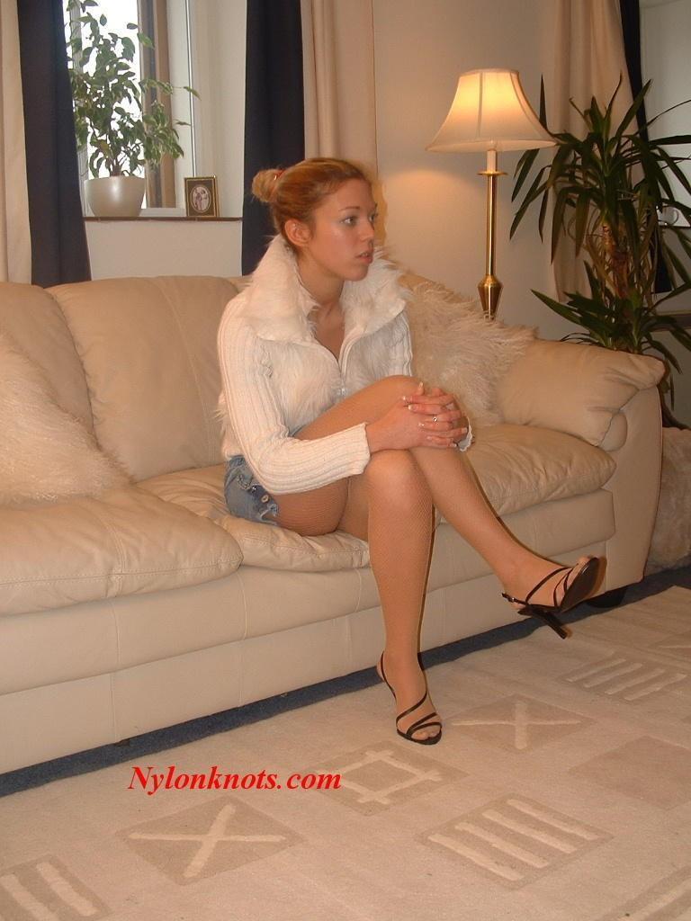 best of In pantyhose tan woman Slutty